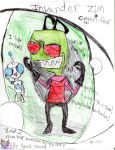 Invader Zim Cyngel's Fear Book Cover by AngelCnderDream14