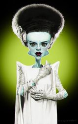 The Bride of Frankenstein by markdraws