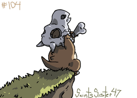 #104 Cubone by SaintsSister47