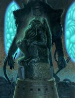 Cthulhu statue  - revisited by nightserpent