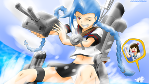 Jinx (LOL) X Kantai Collection by Choudenjizenou