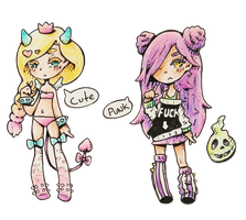 Goth Pastel Halloween Adopts - (Auction Closed) by CoolPepper