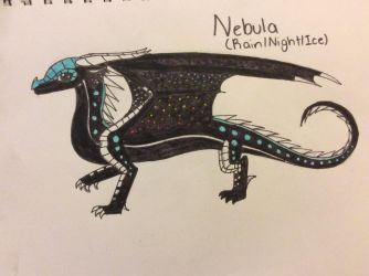 Art Request Gift: Nebula the Rain/Night/IceWing by Blizzard-and-Friends