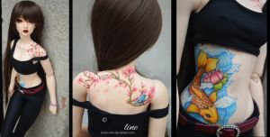 Hanae tattoo by Anna-line