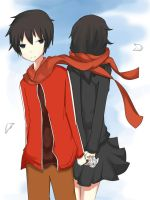 Shintaro and Ayano by Shizakichi