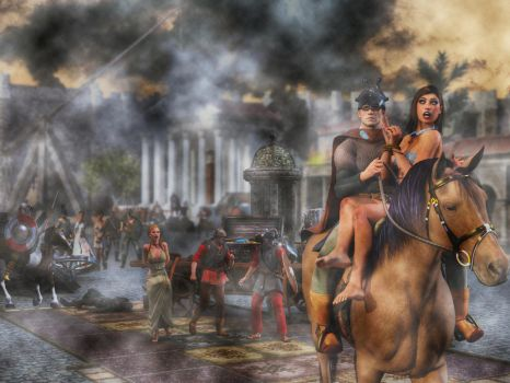 Barbarians in Rome by carmag34