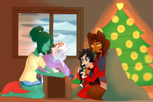 The boy who stole christmas by Two-Mind-Monster