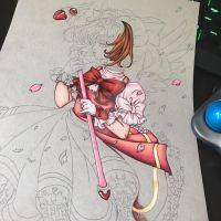 WIP [Traditional] Sakura Kinomoto by EmeraldAngelStudio