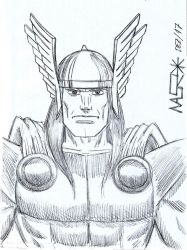 Thor Sketch by rattrap587
