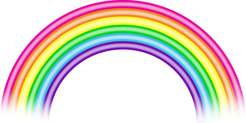 Lisa Frank Style Rainbow (Free to Use) by MeMiMouse