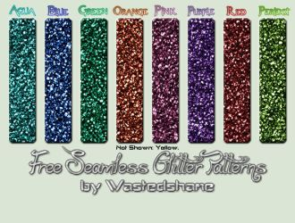 Wastedshame Free Glitter Patterns by wastedshame