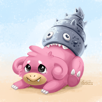 080 - Slowbro by TsaoShin