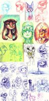 Look, another sketchdump. by Zakeno