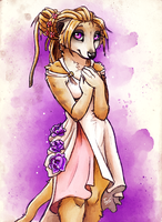 Flowery Meerkat - Sketch by TasDraws
