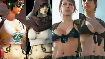 Spacelords Mikah Belly and MGSV Quiet Belly by JMarvelhero