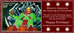 Skeletor Claus by decrepitmonkey