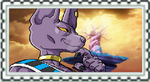 Dragonball series: G.O.D Beerus/Bills Fan Stamp by Halowing