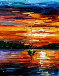 Quiet Sunset by Leonid Afremov by Leonidafremov