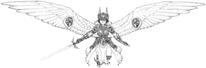 Commission - Valkyrie by endlessnostalgia