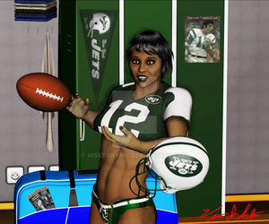 Football Pinup 2 NY JETS by hisstorymn
