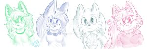 Sketch Commission Examples ($.50 or 50 points) by Silverxuno
