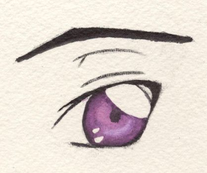 Lelouch's Eye: Watercolor fun by mdnght1