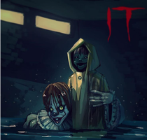 IT -2017 Pennywise and Georgie by Blatinic