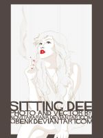 Sitting Dee Vector by qbenk