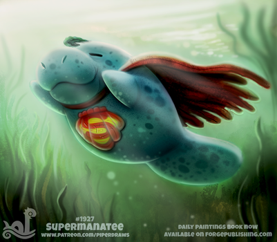 Daily Paint 1927# Supermanatee by Cryptid-Creations