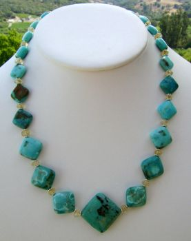 Yield - Turquoise and citrine by whitewavejewelry