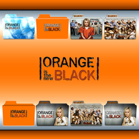 Orange Is The New Black folder icons: S01 and S02 by F0l13aD3ux