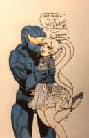 Caboose and Weiss - COMMISH by ameliacostanza