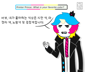 Printer Prince Q1- Favorite Color by XombieJunky