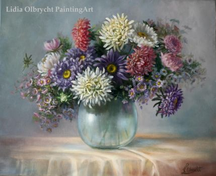 Asters - autumn flowers by Lidmar