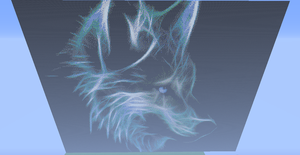 A Wolf Spirit (Pixelised) by Sonaze-Knight