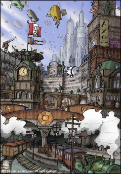 Airship City by jollyjack