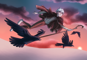 Flight with Ravens by t-h-e-j-o-e-y