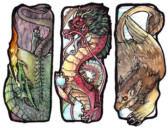 fantasy bookmarks set 1 by Anarchpeace