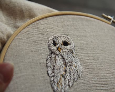 Embroidered owl by Avaril