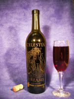 MLP - 'Celestia Dreams' (Engraving Wine Bottle) by Ksander-Zen