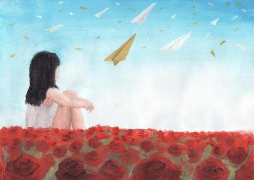Planes and  Roses by CA0001