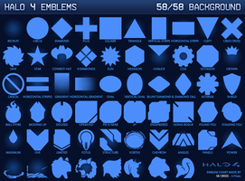 Halo 4 Background Emblem Chart by SKCRISIS