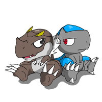 Pokemon- Tyrunt and Cranidos