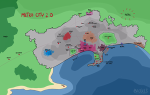 EvilUnicornWhale Metro City Map by baegels