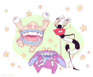 Aaahh!!! Real Monsters - 90s cartoon - Nickelodeon by Naimly