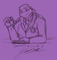TMNT University Sketch - Donny by nichan
