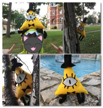 Bill Cipher plush by Kaylee-Michele