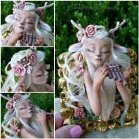 Fawn Framed Sculpture by MysticReflections