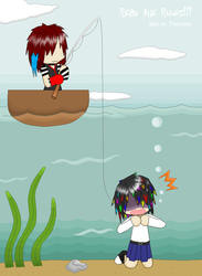 Metto and Lyu goes fishing by MaLrtW
