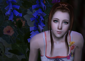 Aerith - ''Dilly Dally, Shilly Shally.'' by Ladylorenna
